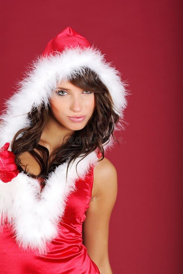 Download Ragazza del Babbo Natale fotografia stock. Immagine di rosso - 7312548