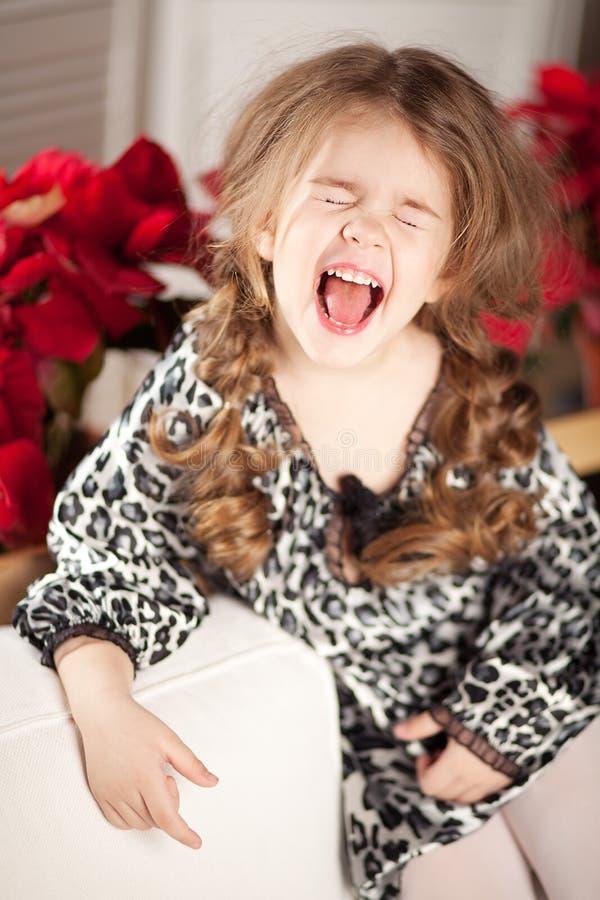 Ragazza del bambino di modo e di bellezza fotografia stock