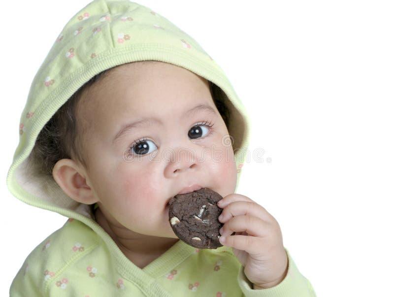 Ragazza del biscotto fotografia stock libera da diritti