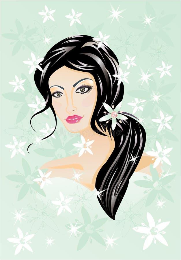 Ragazza del Brunette royalty illustrazione gratis