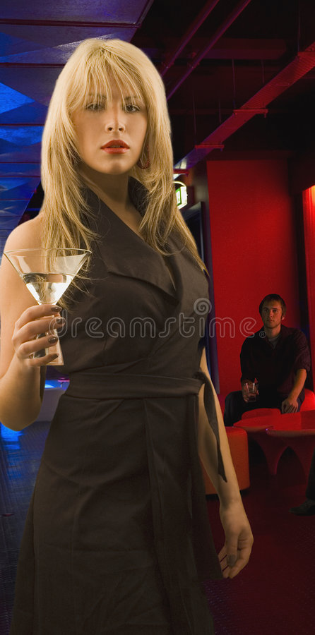 Ragazza del cocktail fotografia stock libera da diritti