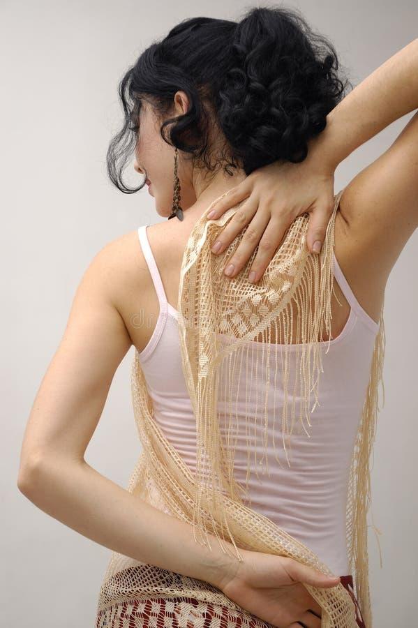 Ragazza del danzatore di flamenco fotografia stock libera da diritti