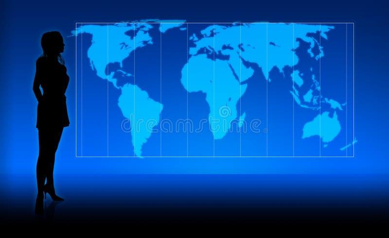 Ragazza del mondo illustrazione vettoriale