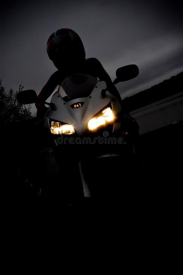 Ragazza del motociclo fotografie stock libere da diritti