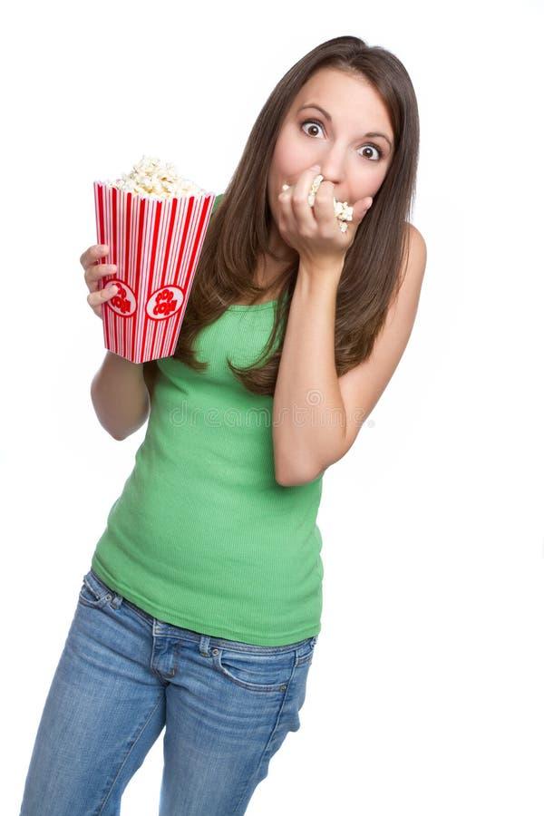Ragazza del popcorn fotografie stock
