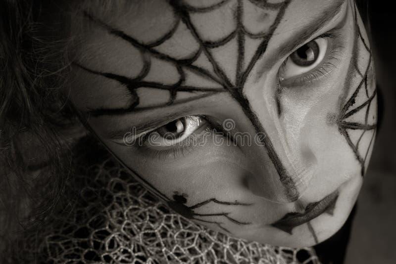 Ragazza del ragno immagini stock libere da diritti