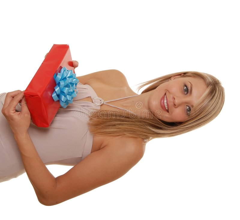 Ragazza del regalo fotografie stock