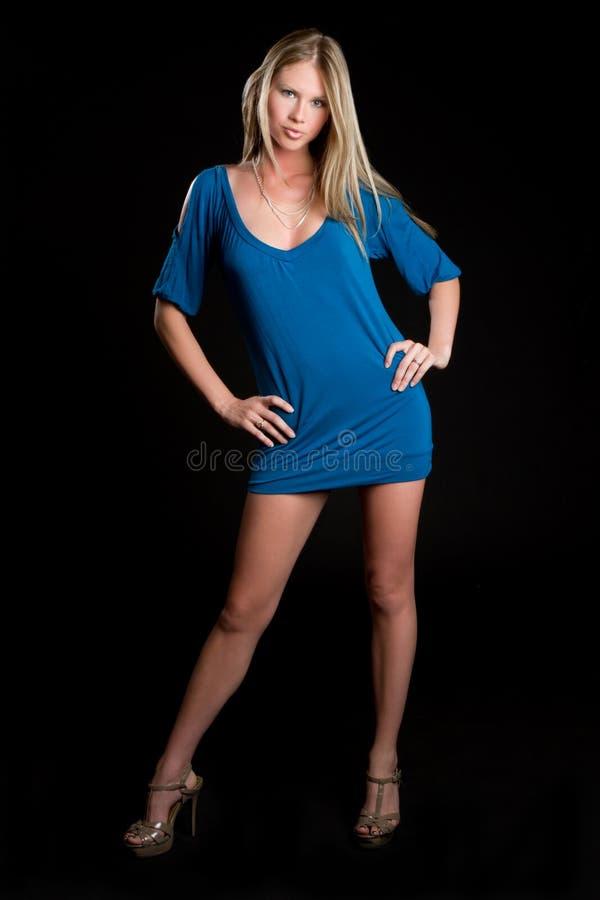 Ragazza del vestito da modo fotografie stock
