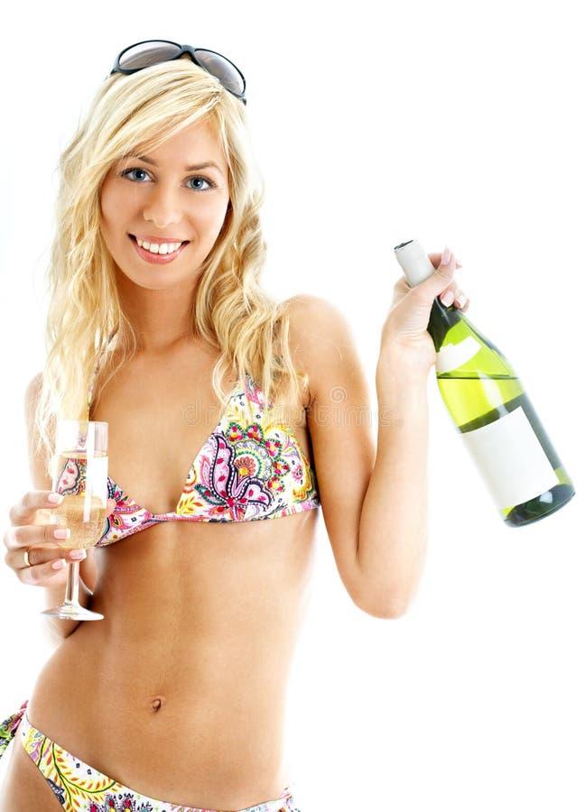 Ragazza del vino fotografie stock libere da diritti