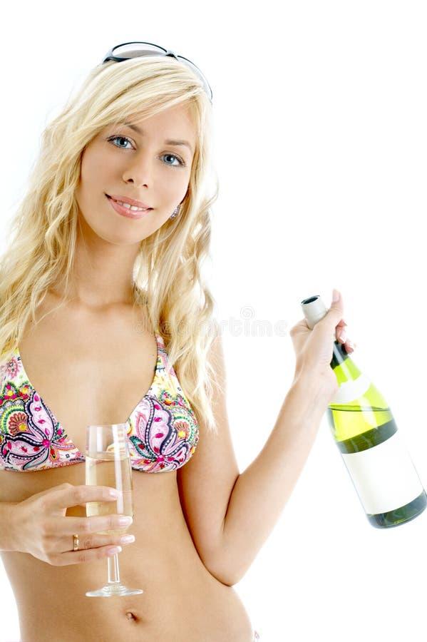 Ragazza #2 del vino fotografie stock libere da diritti