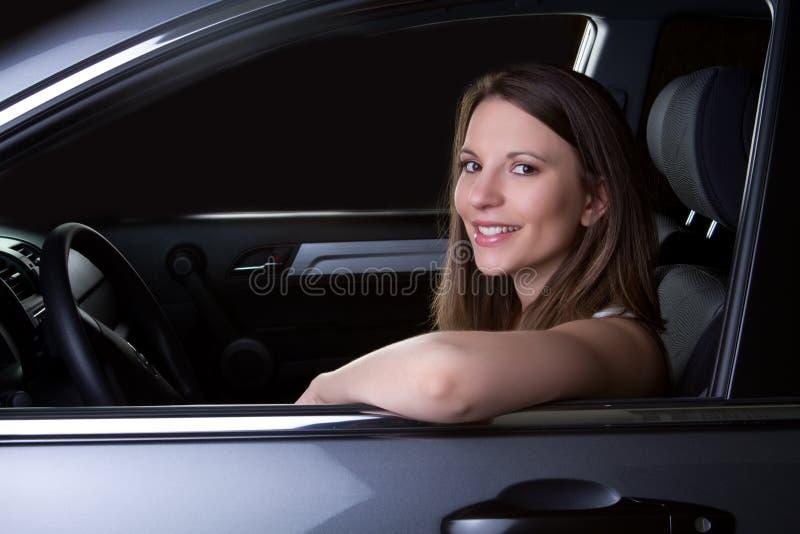 Ragazza dell'automobile immagini stock