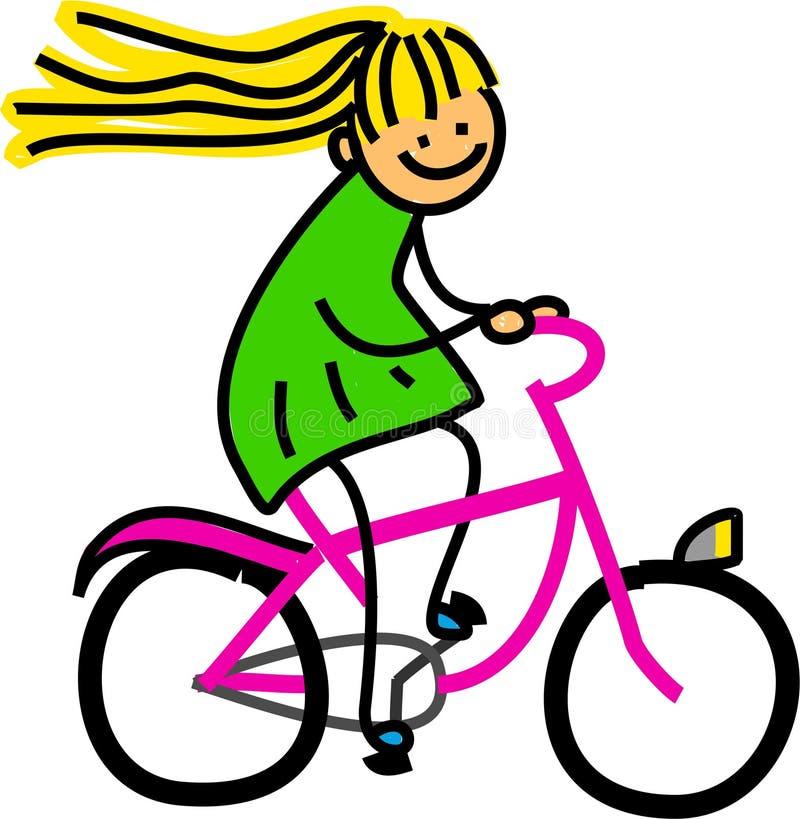 Ragazza della bicicletta royalty illustrazione gratis