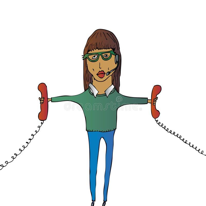 Download Ragazza della call center illustrazione vettoriale. Illustrazione di personale - 7304193