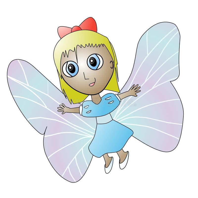Ragazza della farfalla immagini stock libere da diritti
