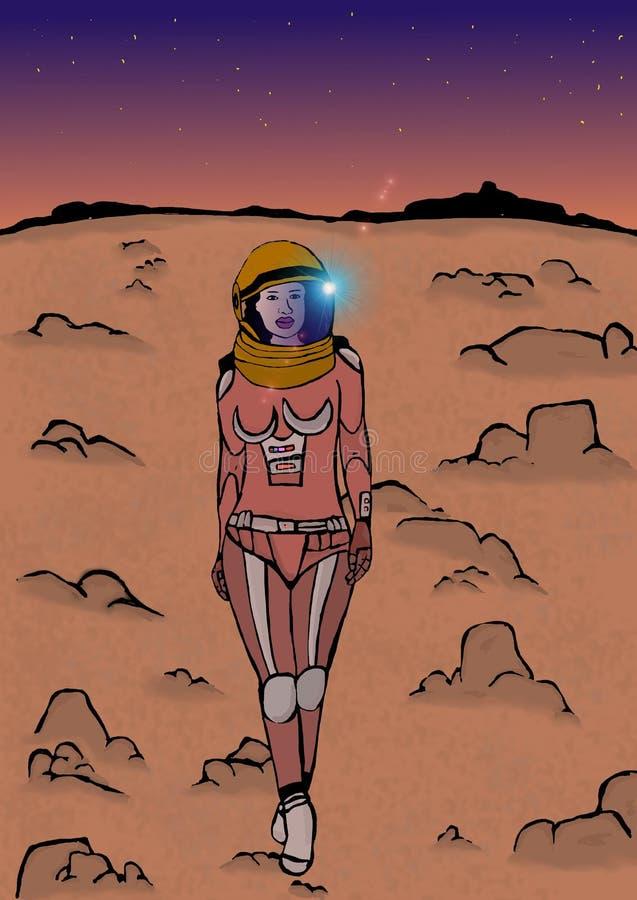 Ragazza della galassia royalty illustrazione gratis