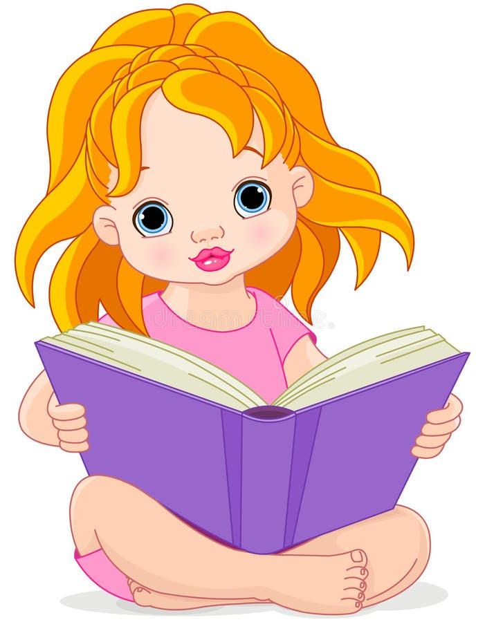 Ragazza della lettura illustrazione di stock