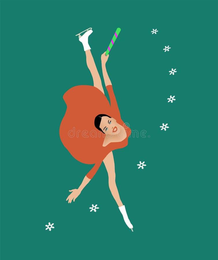 Download Ragazza della neve illustrazione vettoriale. Illustrazione di verniciato - 3887420