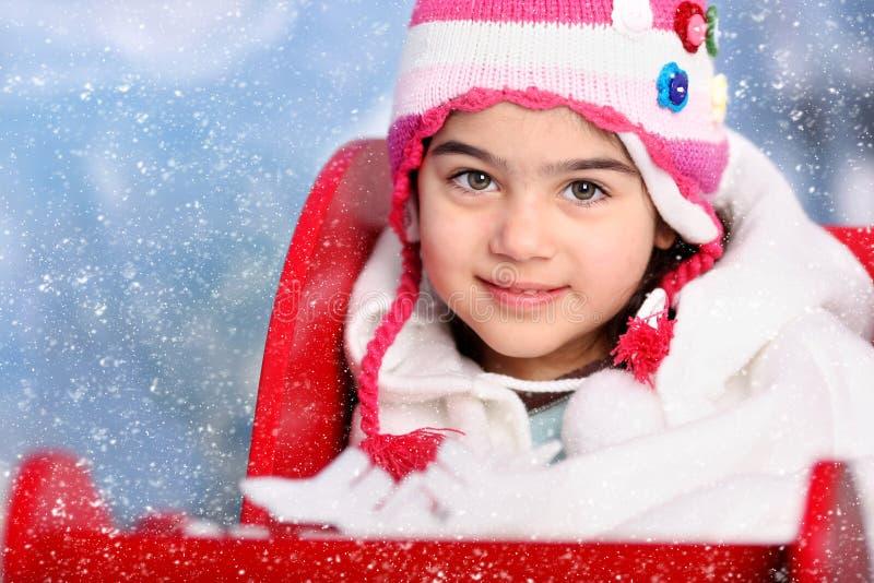 Ragazza della neve fotografia stock