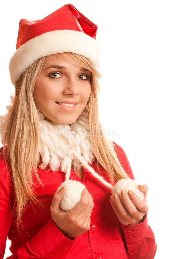 Ragazza della neve del nuovo anno immagine stock libera da diritti