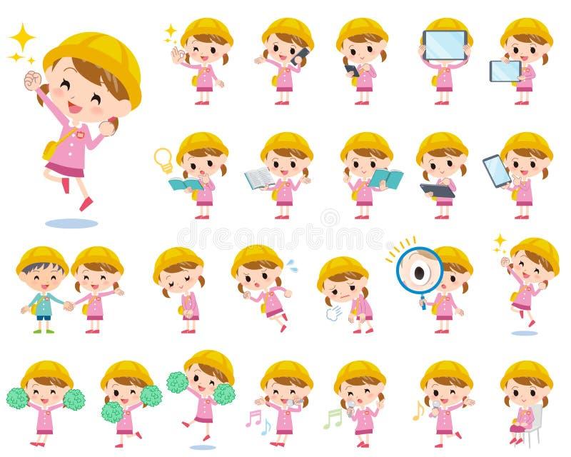Ragazza 2 della scuola materna royalty illustrazione gratis