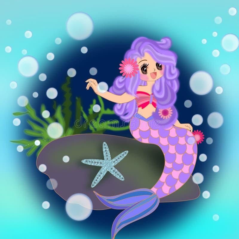 Ragazza della sirena royalty illustrazione gratis