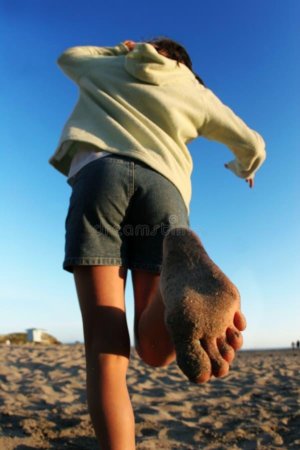 Ragazza della spiaggia immagine stock