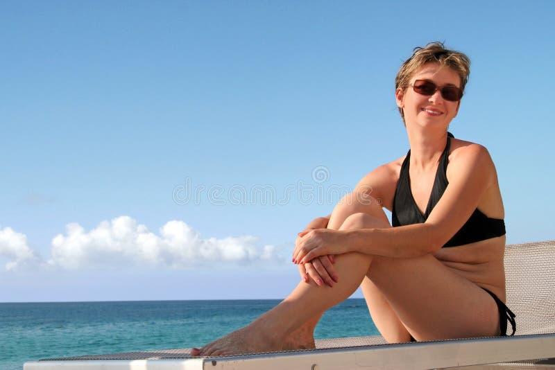 Ragazza della spiaggia fotografia stock libera da diritti