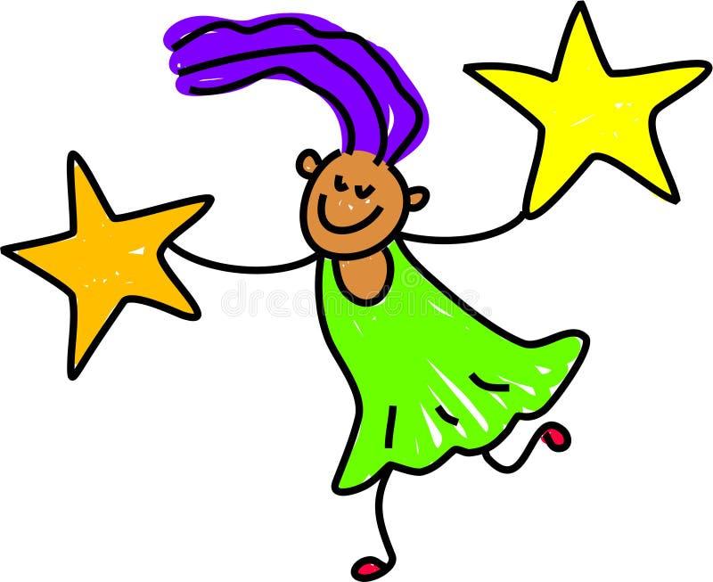 Ragazza della stella royalty illustrazione gratis