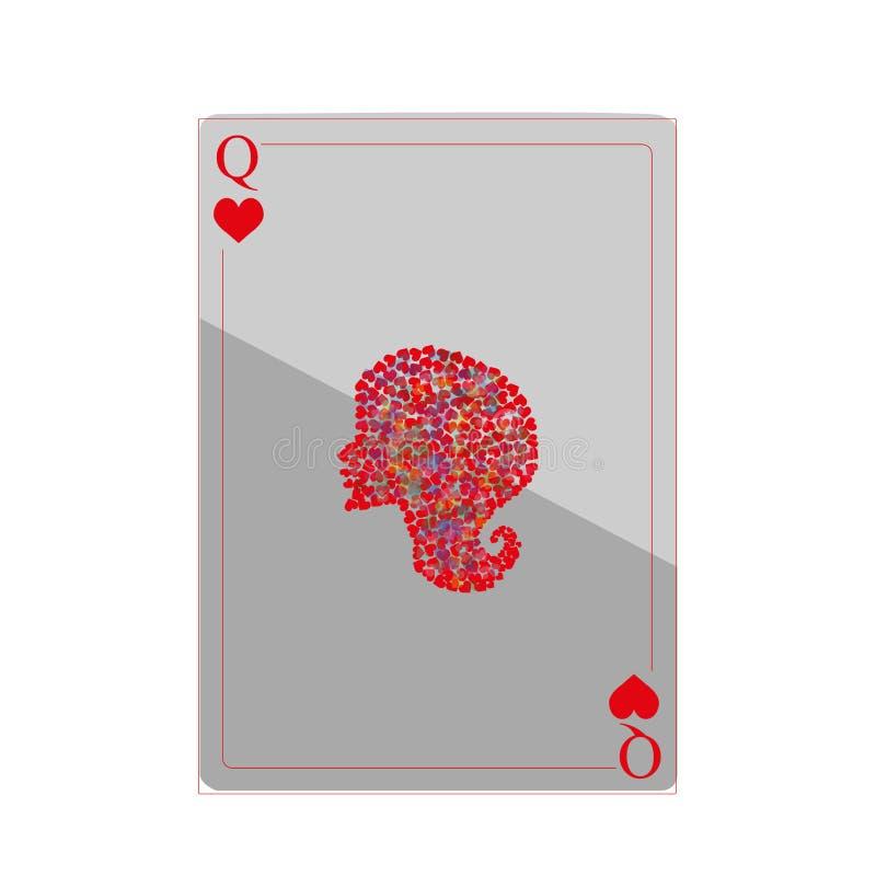 Ragazza delle carte da gioco immagini stock libere da diritti