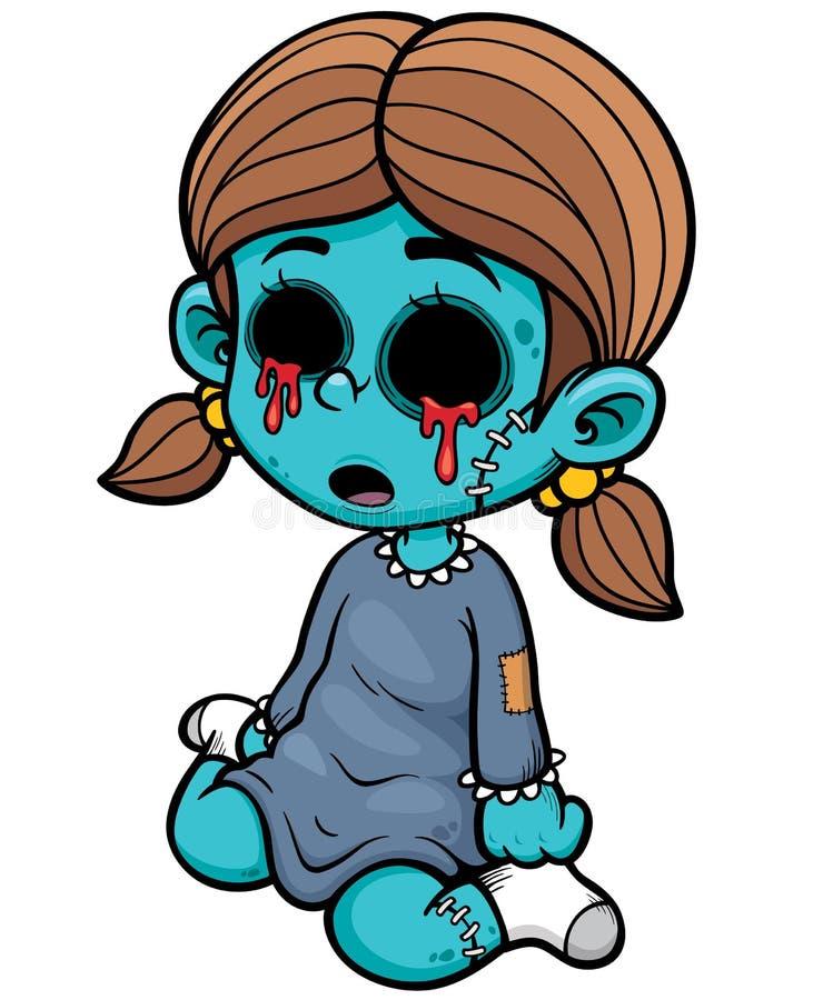 Ragazza dello zombie illustrazione vettoriale