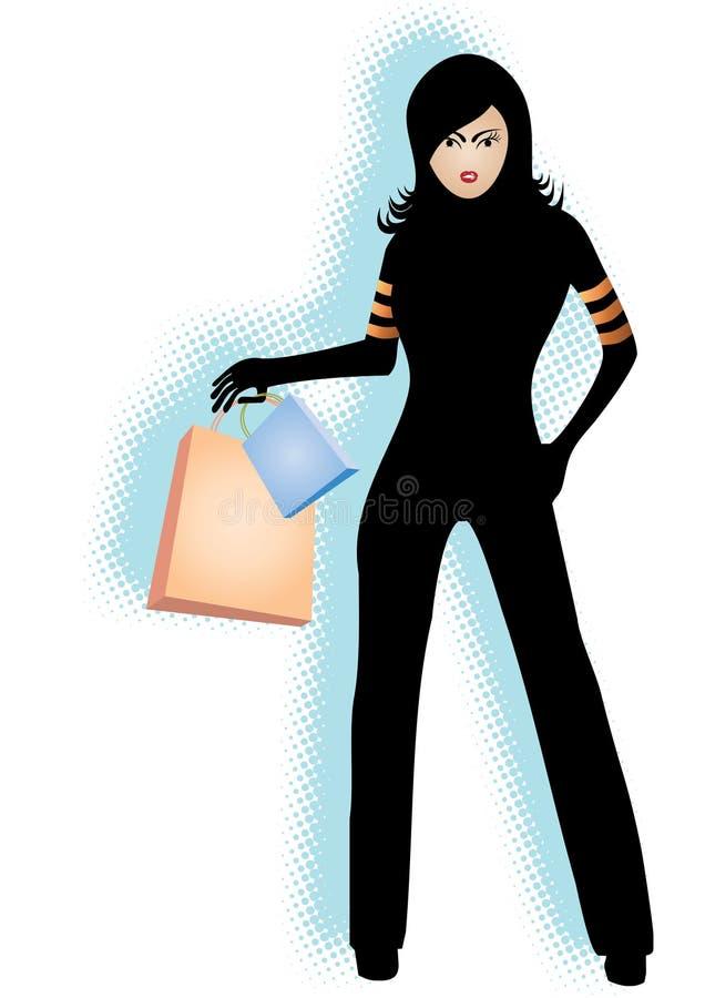 Download Ragazza Di Acquisto Moderna Illustrazione Vettoriale - Illustrazione di bianco, illustrato: 3879192