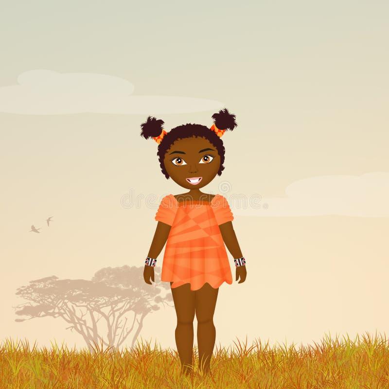 Ragazza di afro illustrazione vettoriale