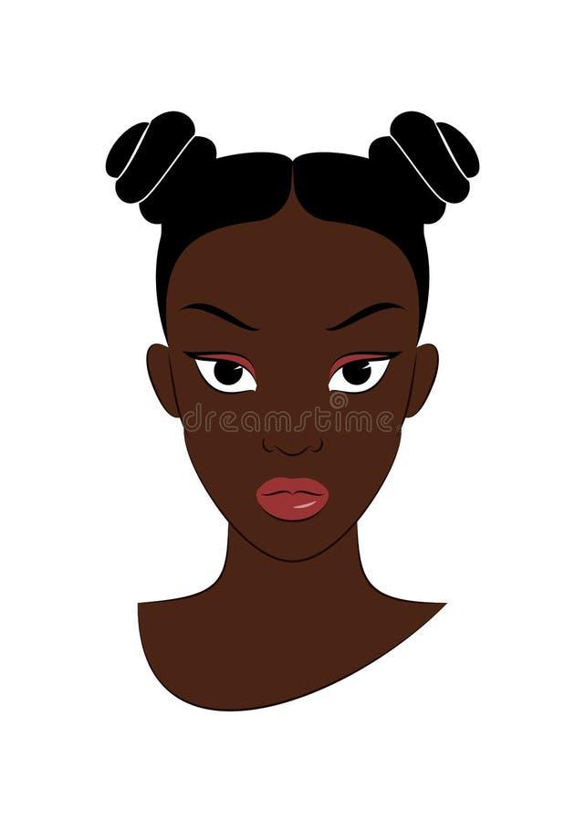 Ragazza di afro royalty illustrazione gratis