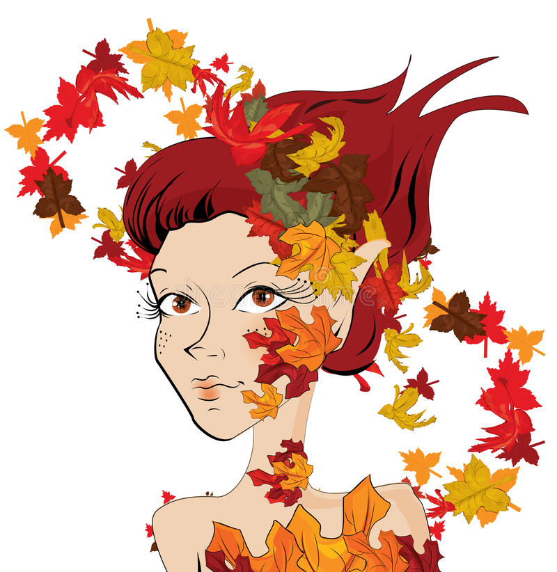 Ragazza di autunno royalty illustrazione gratis