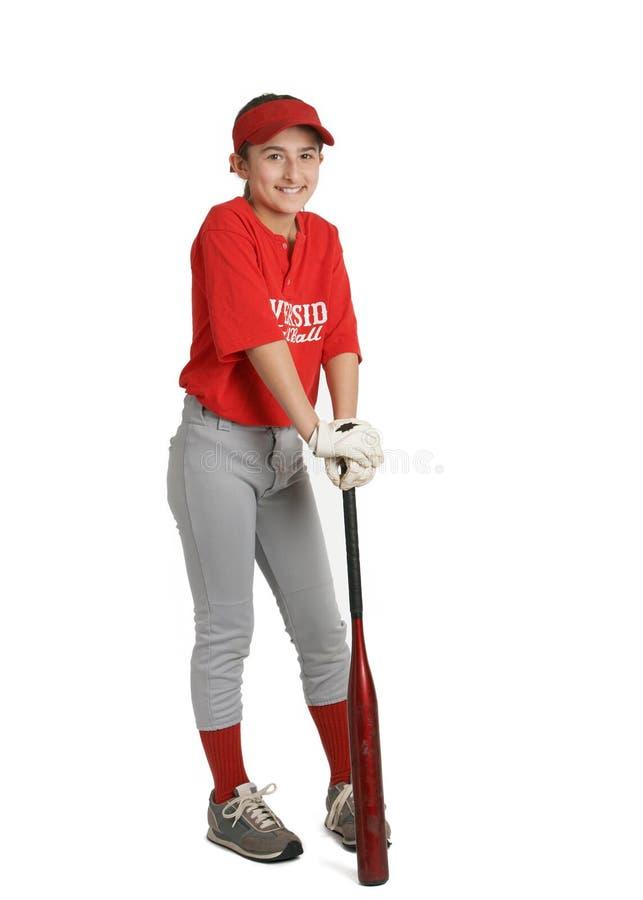 Ragazza di baseball fotografie stock libere da diritti