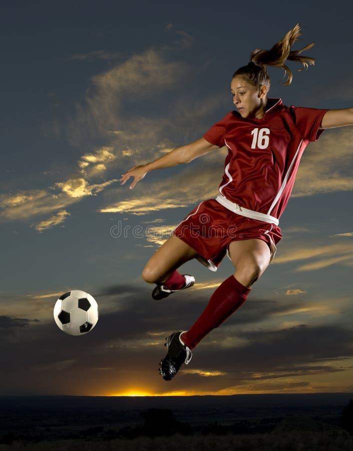 Ragazza di calcio fotografia stock