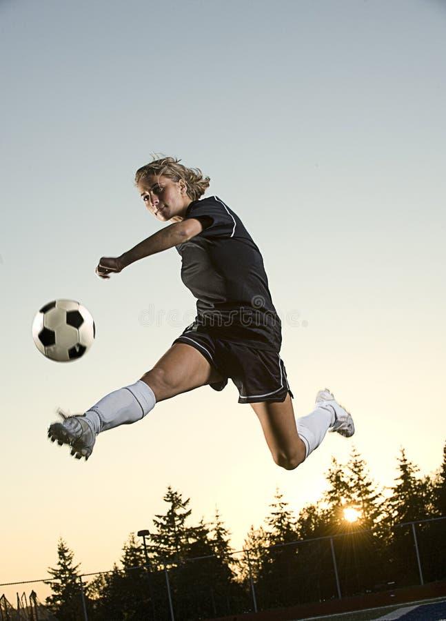 Ragazza di calcio fotografie stock libere da diritti