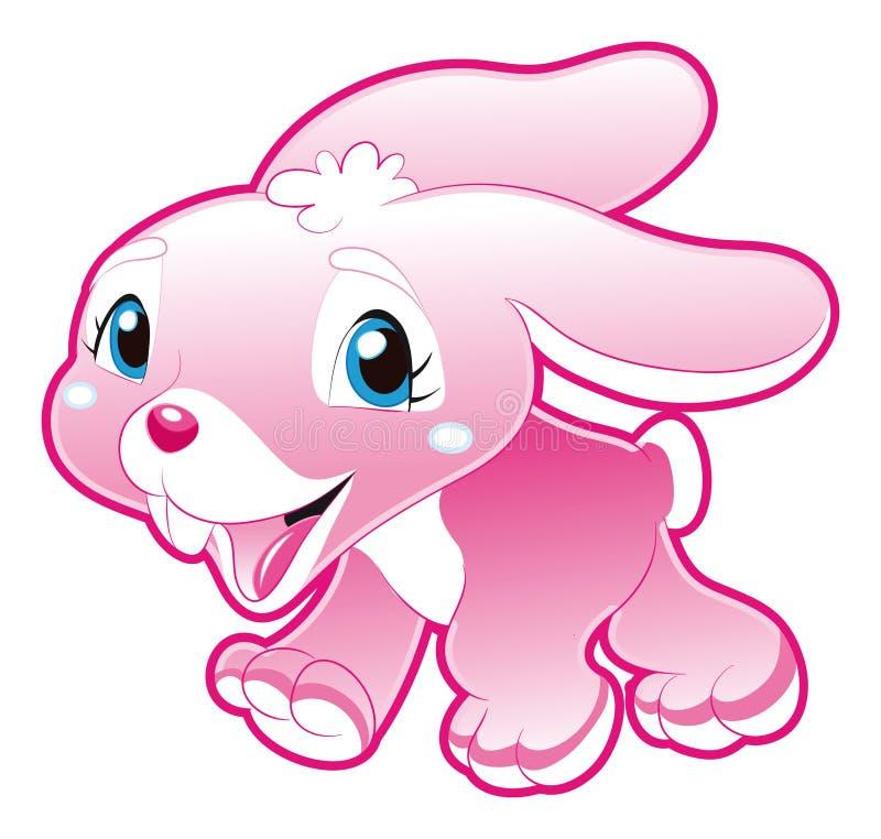 Ragazza di coniglietto del bambino illustrazione di stock