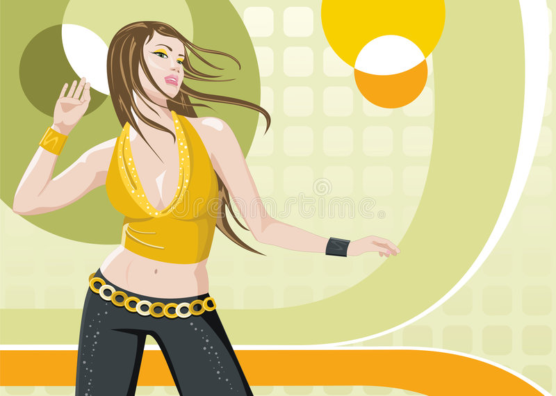 Ragazza di Dancing royalty illustrazione gratis