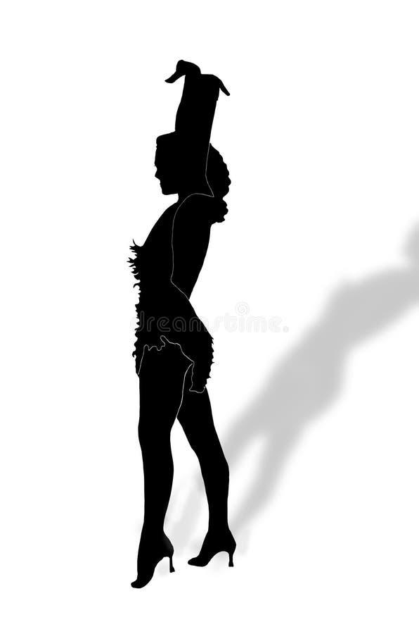Ragazza di Dancing illustrazione di stock