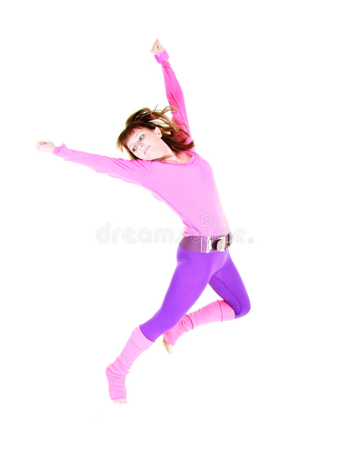 Ragazza di dancing moderna di stile immagini stock