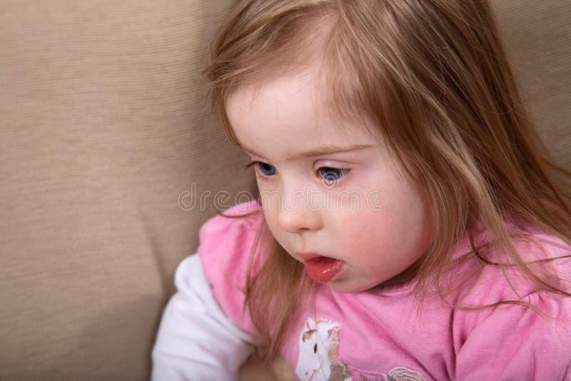 Ragazza di Down Syndrome immagini stock libere da diritti