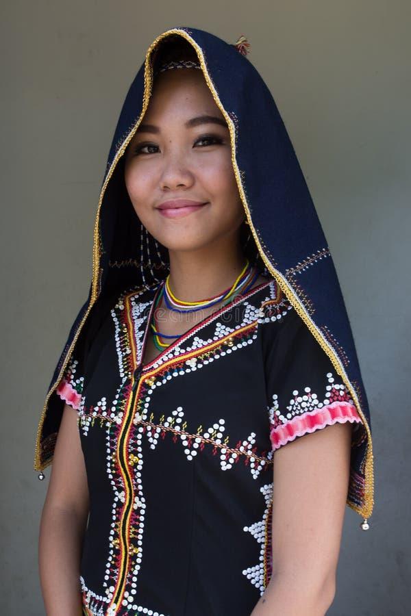 Ragazza di Dusun immagini stock