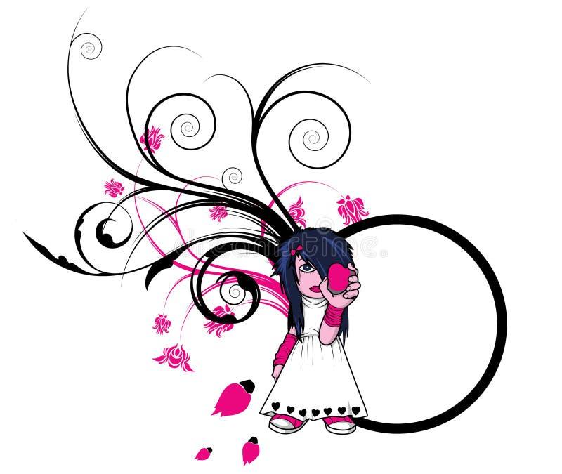 Download Ragazza di Emo illustrazione vettoriale. Illustrazione di vettore - 7312942