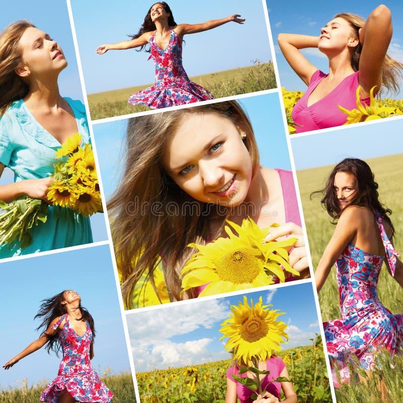 Ragazza di estate immagini stock