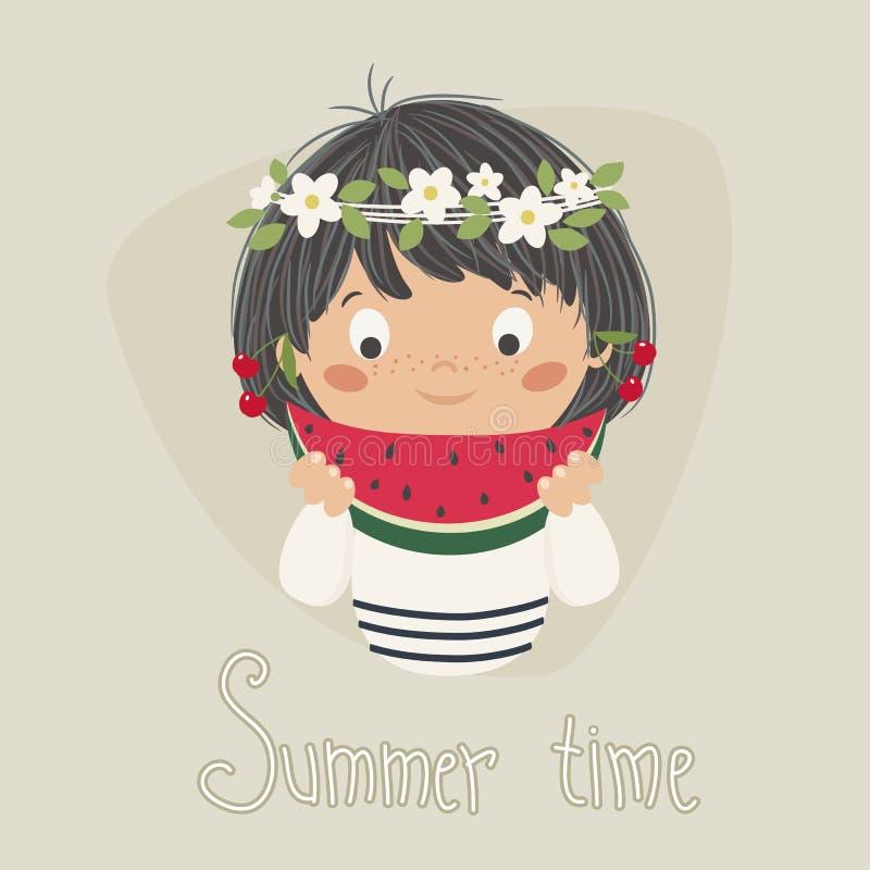 Ragazza di estate royalty illustrazione gratis