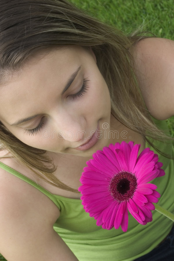 Ragazza di fiore immagine stock