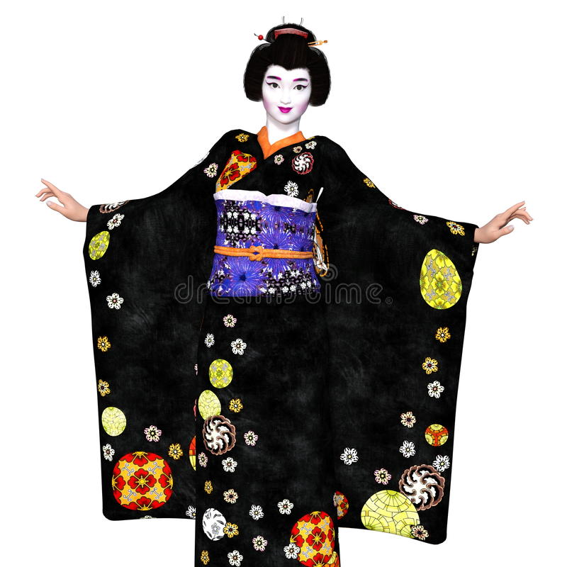 Download Ragazza di geisha illustrazione di stock. Illustrazione di donna - 56876905