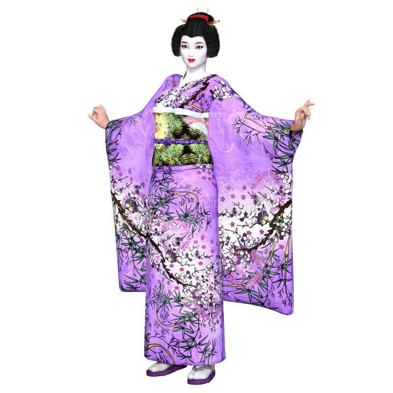 Download Ragazza di geisha illustrazione di stock. Illustrazione di abbastanza - 56876964