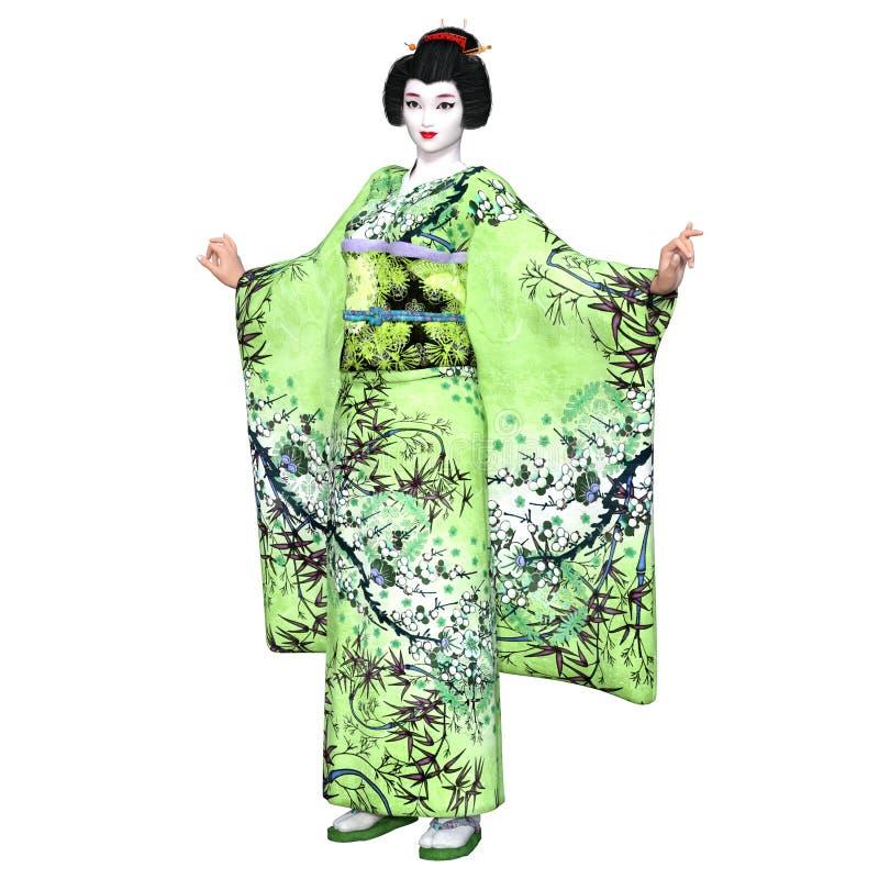 Download Ragazza di geisha illustrazione di stock. Illustrazione di kimono - 56876968